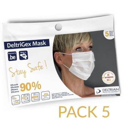 Deltrigex masques pack de 5 pièces