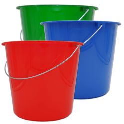 Seau ménage rouge - 10 litres