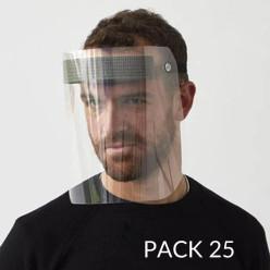 Visière de protection - pack de 25