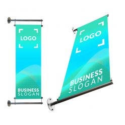 Structures for vertical banners