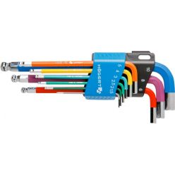 Set of 9 allen key color supported