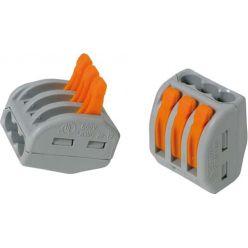 Connecteur rapide 3x pour conducteurs souples (10 pièces)