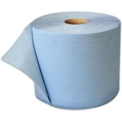 Blue wiping paper roll 38 cm - 3 ply