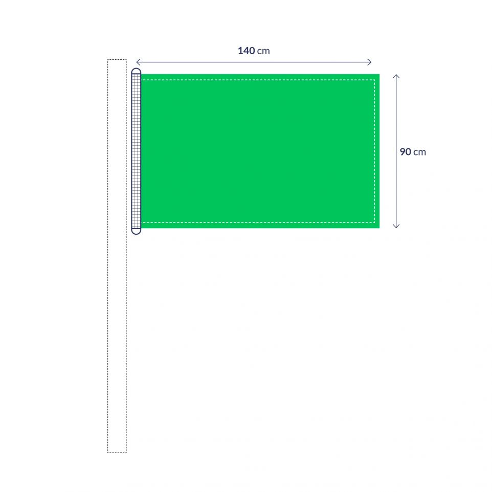 custom flag with standard sizes from 11 18  u20ac excl  vat