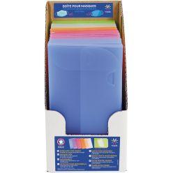 Viquel enveloppes pour masques de protection, ft 20 x 10,5 x 0,8 cm, présentoir de 15 pièces