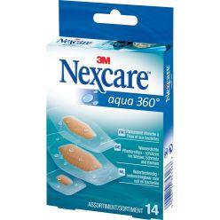 3M pansement Nexcare Aqua 360° 3 formats, paquet de 14 pièces