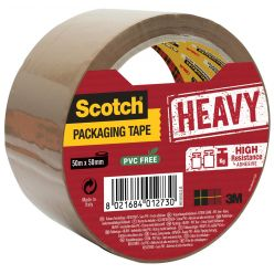 Scotch ruban d'emballage Heavy, ft 50 mm x 50 m, brun, emballé individuel