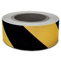 Ruban de signalisation, ft 50 mm x 60 m, noir/jaune