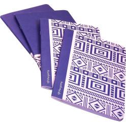 Pergamy Ethnic cahier, ft A5, quadrillé 5 mm, 48 pages, bleu
