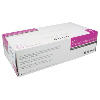 Gants en vinyle, medium, blanc/transparent, boîte de 100 pièces