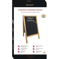 Securit panneau de troittoir Sandwich ft 70 x 125 cm, teak
