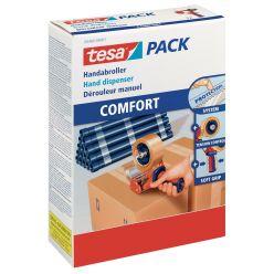 Tesa dérouleur pour ruban adhésif d'emballage Pack 6400 Comfort