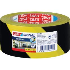Tesa ruban de signalisation premium ft 50 mm x 66 m, noir/jaune