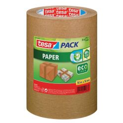 Tesa ruban adhésif Ecologique, papier craft, ft 50 mm x 50 m, brun, paquet de 3 pièces
