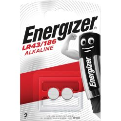 Energizer pile bouton LR43/186, blister de 2 pièces