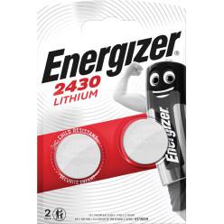 Energizer pile bouton, CR2430, blister 2 pièces