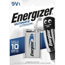 Energizer pile Lithium 9V, sous blister