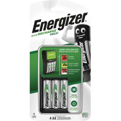 Energizer chargeur Maxi Charger, 4 x AA piles inclus, sous blister