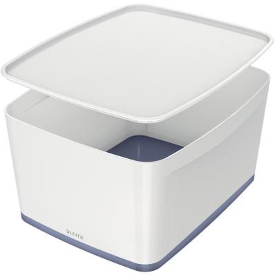 Leitz MyBox boîte de rangement avec couvercle, grand format, blanc