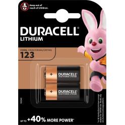Duracell Ultra Lithium 123, blister de 2 pièces