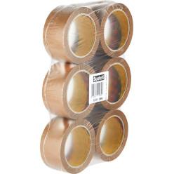 Scotch ruban adhésif d'emballage Classic, ft 50 mm x 66 m, brun, paquet de 6 rouleaux
