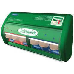 Salvequick distribiteur de pansement adhésif, 45 pansement plastique en 40 pansement élastique incluis