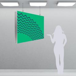 Cadre textile recto-verso à suspendre (sans image)