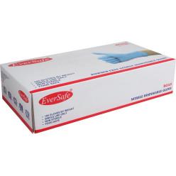 Gants en nitrile, medium, bleu, boîte de 100 pièces