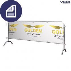 Banner 2-zijdig hek 250 cm