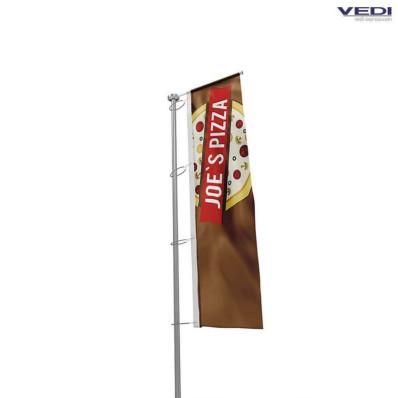 Drapeau personnalisé pour mât avec potence horizontale format standard