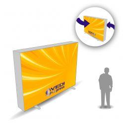 Lightbox Recto-Verso 300x200 avec impressions textile