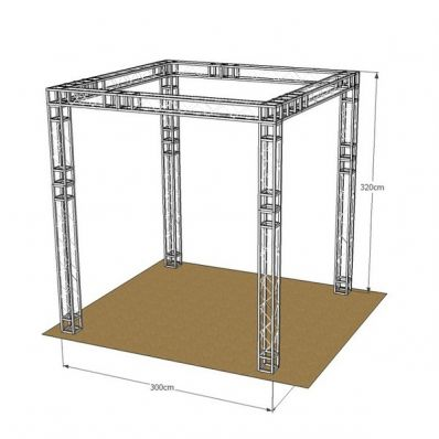Stand wave 300x300 at 757 6 within 4days for Cloison stand