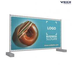 Banner voor Heras hekken - 330x170 cm