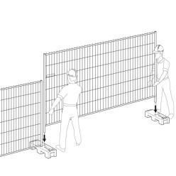 Barrière Heras (barrière seule)