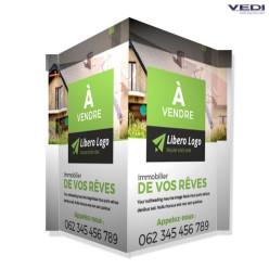 Panneaux immobilier en V