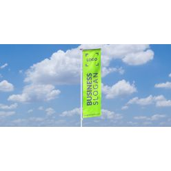 Flagpole with banner arm