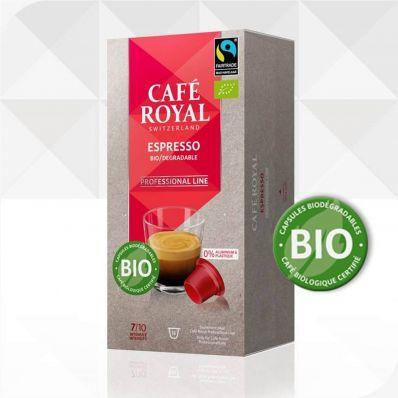 16 Capsules BIODEGRADABLES Café Royal Pro Espresso Bio Organique