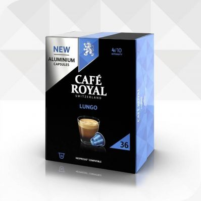 36 Capsules LUNGO compatibles Nespresso®* à usage domestique (aluminium)
