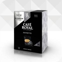 36 Capsules RISTRETTO compatibles Nespresso®* à usage domestique (aluminium)