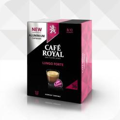 36 Capsules LUNGO FORTE compatibles Nespresso®* à usage domestique (aluminium)
