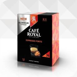36 Capsules ESPRESSO FORTE compatibles Nespresso®* à usage domestique (aluminium)