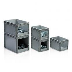 Euro container avec poignées ouverte à l'avant
