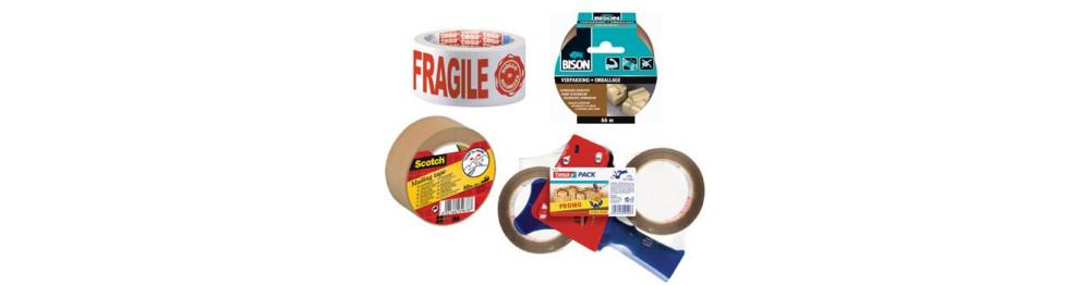 Ruban adhésif d'emballage et dérouleurs