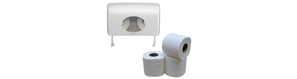 Toilet paper and dispensers