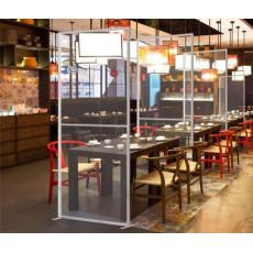 Restaurant bescherming plexiglas