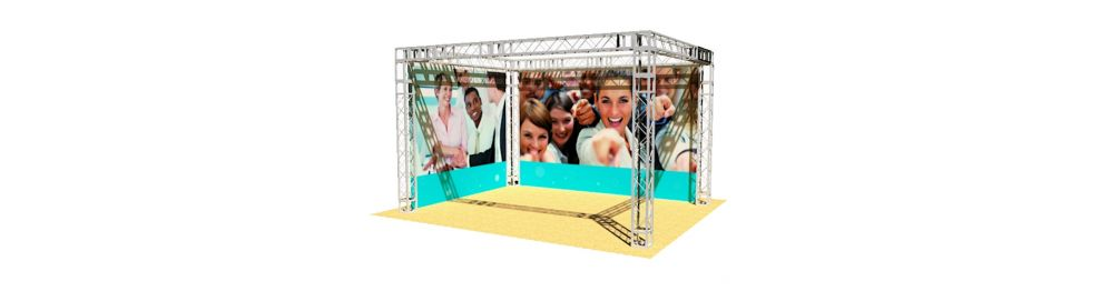 Stand modulaire pour salons et foires commerciales vedi for Stand modulaire