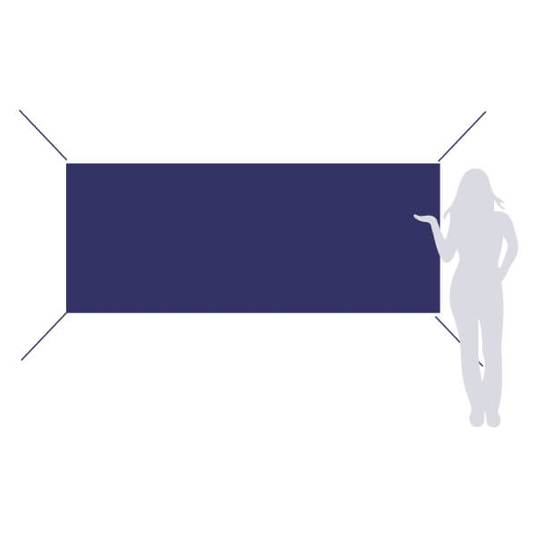 banderole 250x100cm