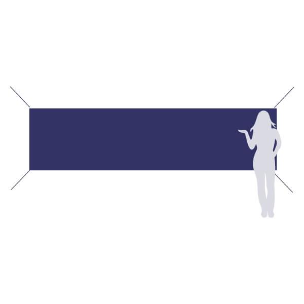 banderole à accrocher 400x100cm