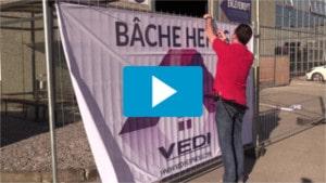video bache heras textile