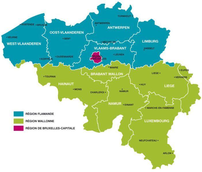 Carte Belgique Communautes Et Regions.Drapeaux Des Provinces Et Communautes Vedi